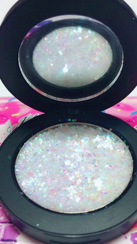 """SNOWFLAKE !"" Single Pressed Glitter Palette - inkeddollcosmetics"