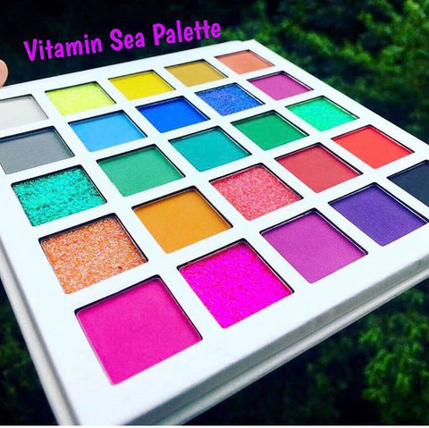 VITAMIN SEA Pressed Eyeshadow/Glitter Palette - inkeddollcosmetics