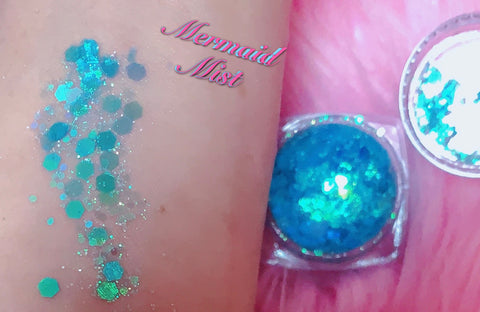 MERMAID MIST MERMAID JELLY (FACE/BODY/GEL) GLITTER GEL - inkeddollcosmetics