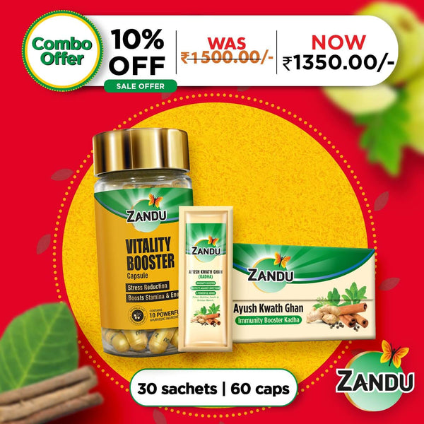 Ayush Kwath ghan (30 sachets) & vitality booster (60 caps)