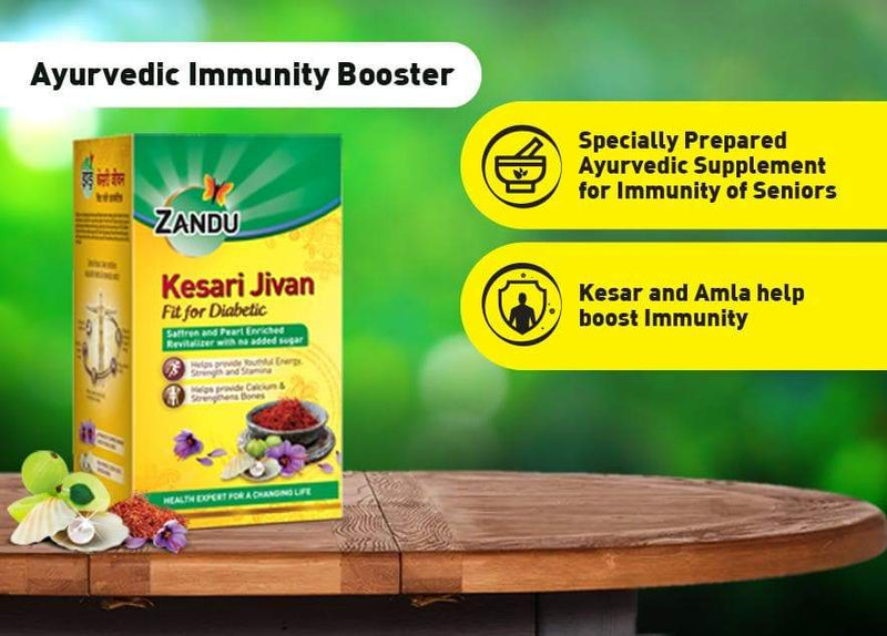 Zandu Kesari Jivan Fit for diabetic (900g) & Karela Jamun+ 3 Herbs Health Juice (500ml)