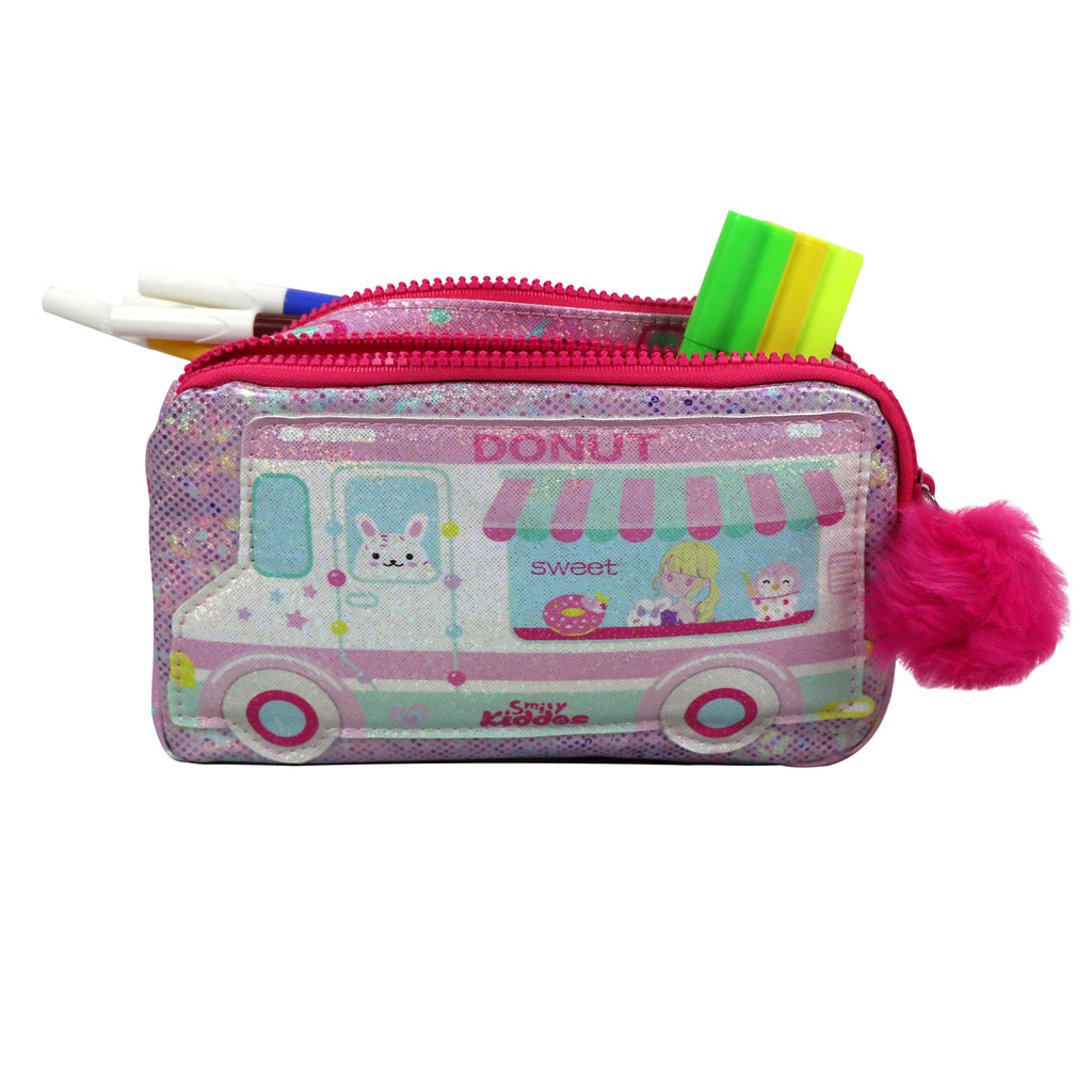 Fancy Donut Pencil Case Teddy Theme