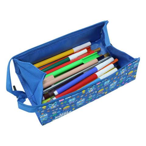 Smily Tray Pencil Case Crazy Robo Theme Blue