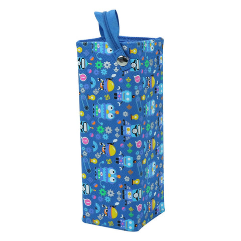 Image of Smily Tray Pencil Case Crazy Robo Theme Blue