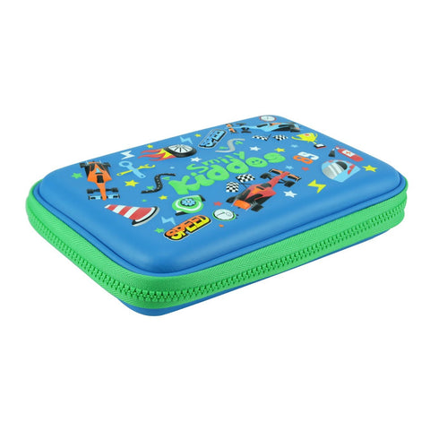 Smily Single Compartment Pencil Case Blue