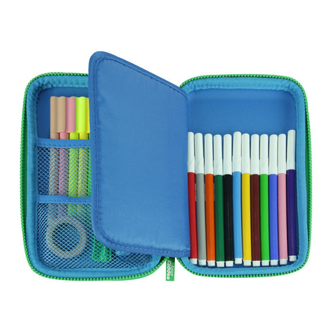 Image of Smily Single Compartment Pencil Case Blue