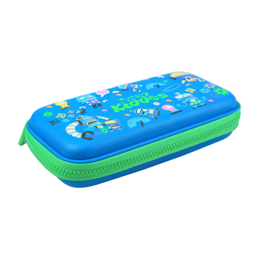 Smily Small Pencil Case Blue