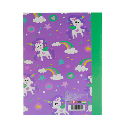 Image of Smily A5 Lined Exercise Notebook Purple