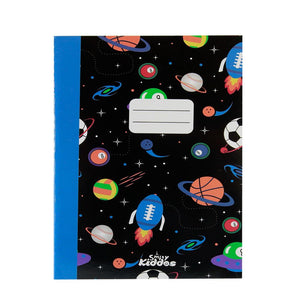 Smily A5 Lined Exercise Notebook Black
