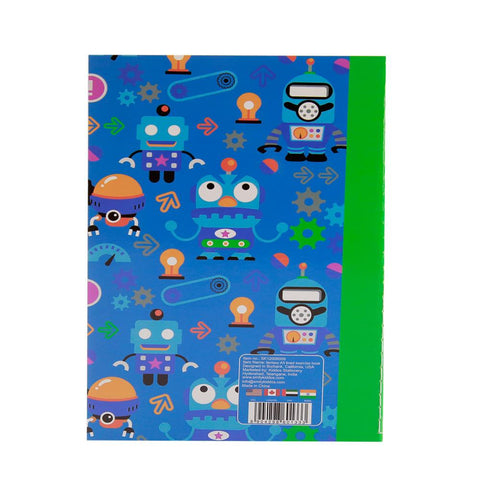 Image of Smily A5 Lined Exercise Notebook Blue
