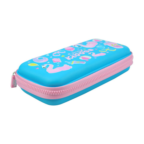 Smily Small Pencil Case Light Blue