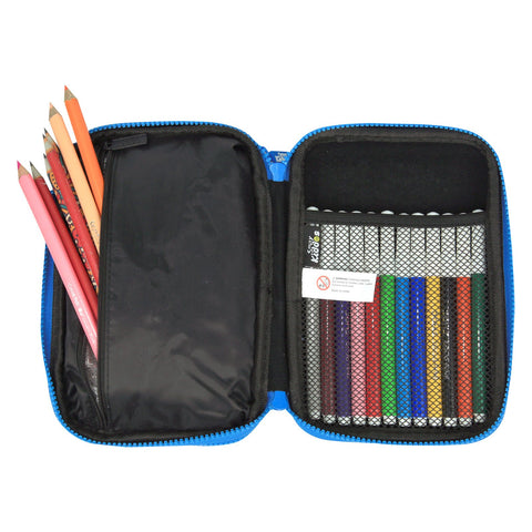 Fancy Double Compartment Pencil Case Black