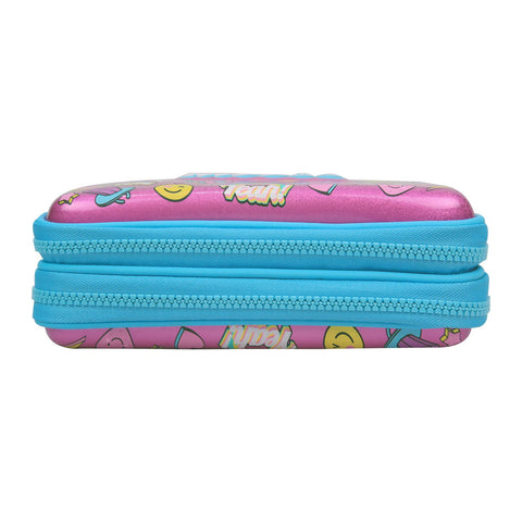 Image of Fancy Double Compartment Pencil Case Pink