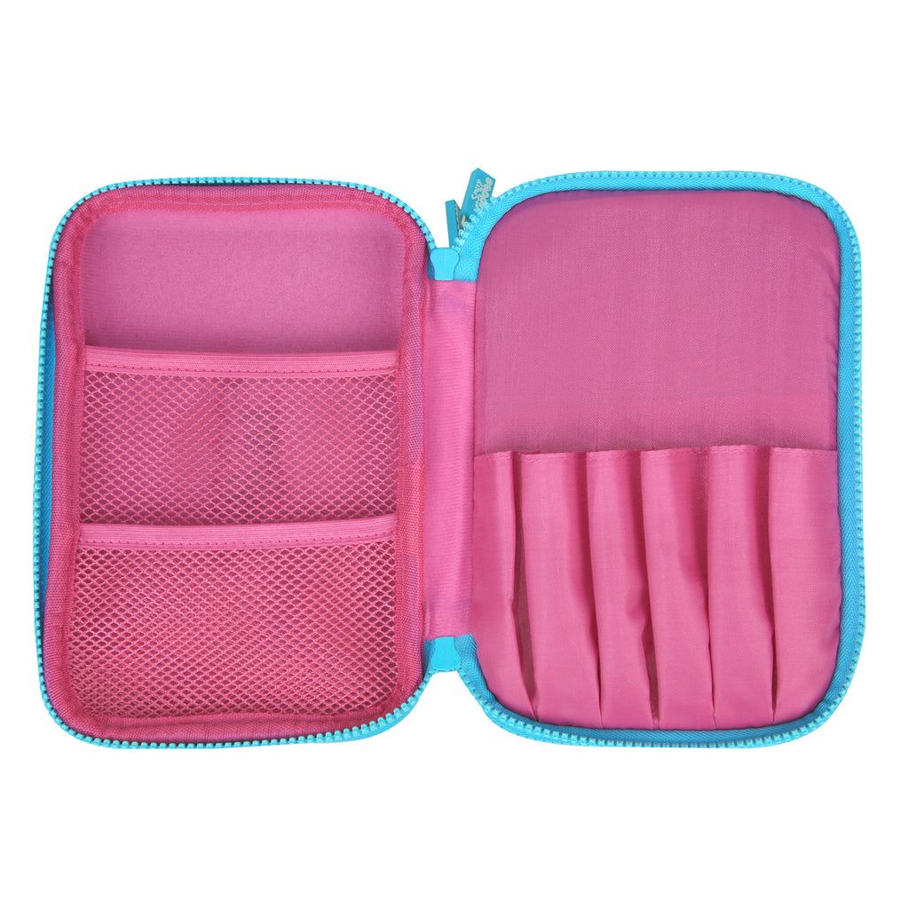 Fancy Double Compartment Pencil Case Pink