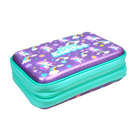Image of Fancy Double Compartment Pencil Case Purple