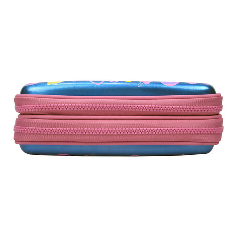 Image of Fancy Double Compartment Pencil Case Light Blue