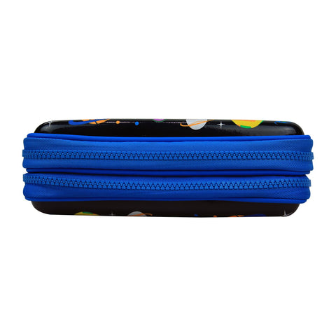 Image of Fancy Double Compartment Pencil Case Black