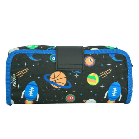 Fancy Strap Pencil Case Black