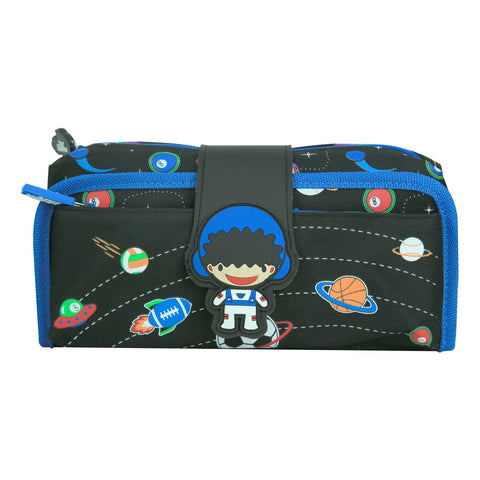 Image of Fancy Strap Pencil Case Black