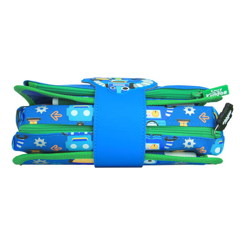 Image of Fancy Strap Pencil Case Blue