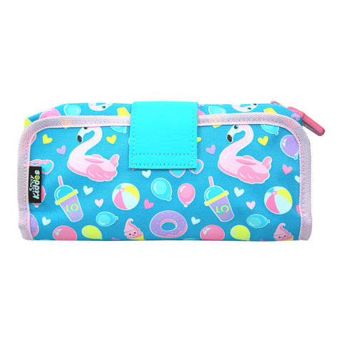 Image of Fancy Strap Pencil Case Light Blue