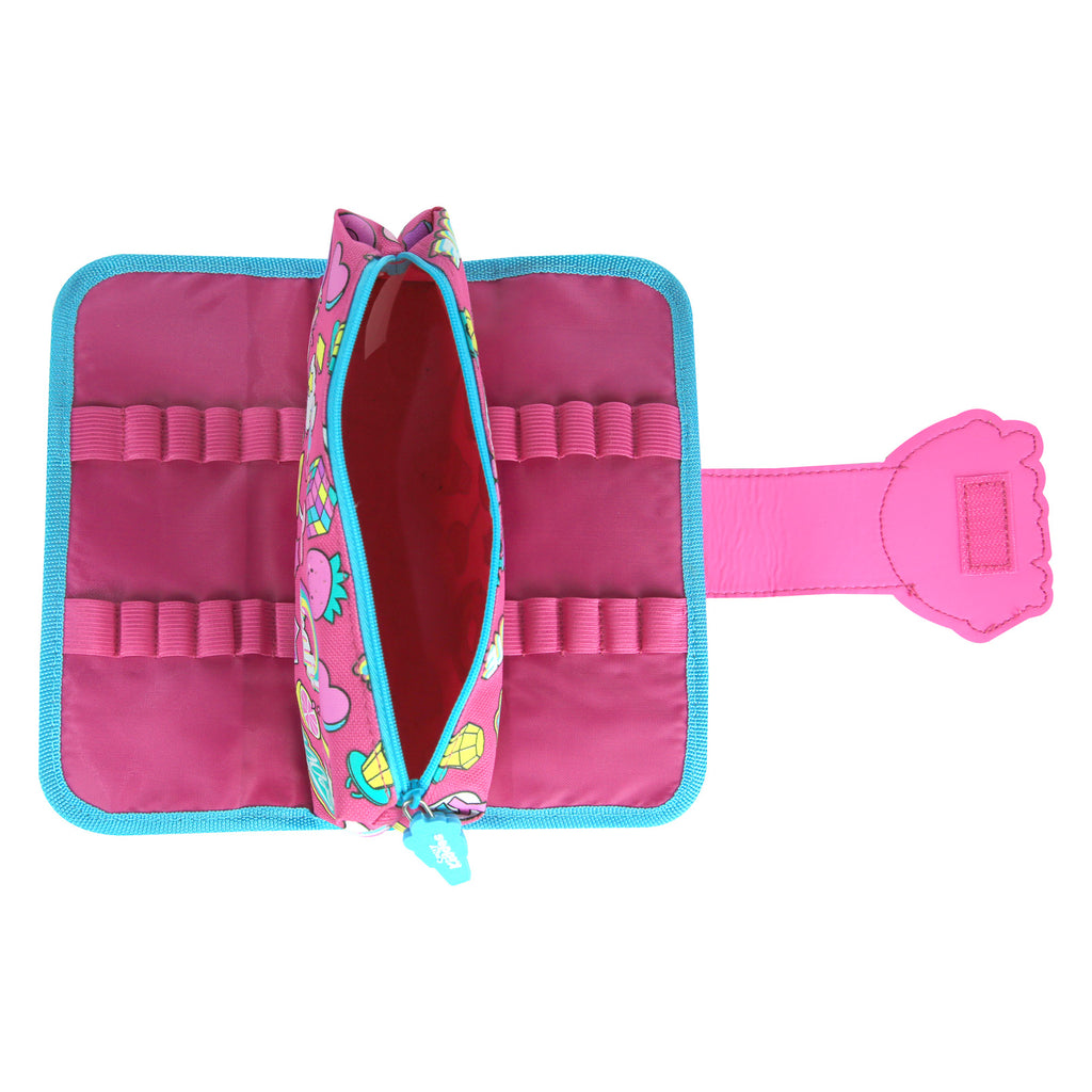 Fancy Strap Pencil Case Pink