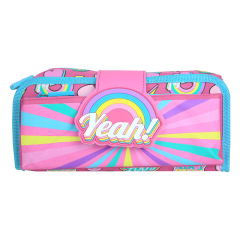 Image of Fancy Strap Pencil Case Pink