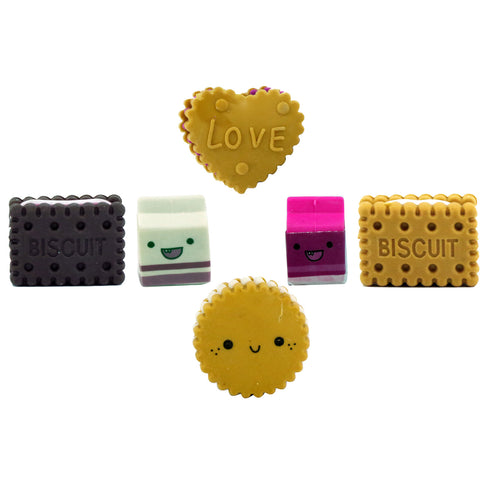 Image of Fancy Biscuits  Eraser Set