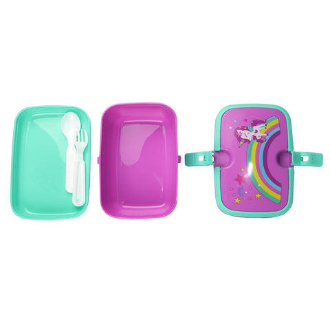 Smily Unicorn Lunch Box Purple