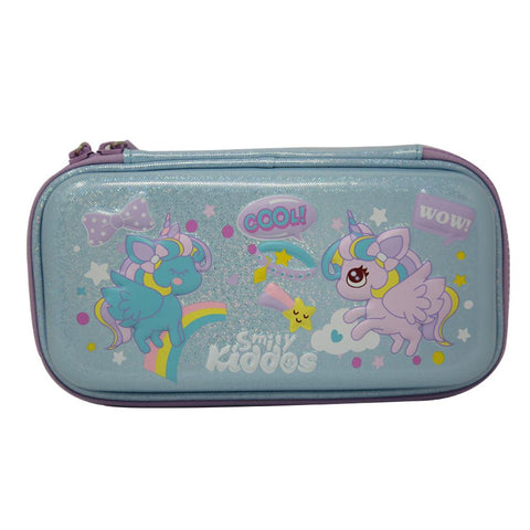 Flying Unicorn Small Pencil Case Light Blue