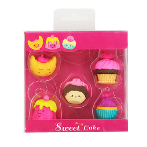 Fancy Cup Cake Eraser Set