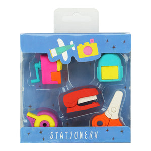 Fancy Stationery Eraser Set