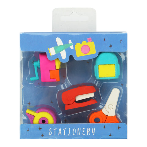Image of Fancy Stationery Eraser Set