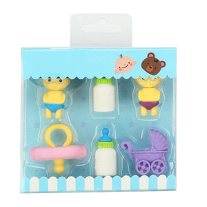 Fancy Doll Eraser Set