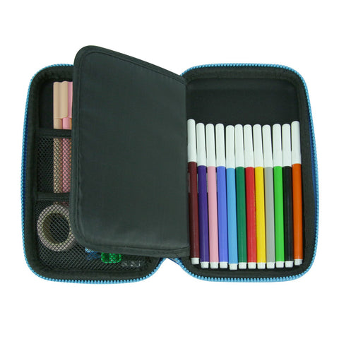 Smily Single Compartment Pencil Case Black
