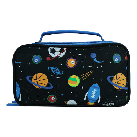Image of Smily Multipurpose Pencil Case Space Theme Black