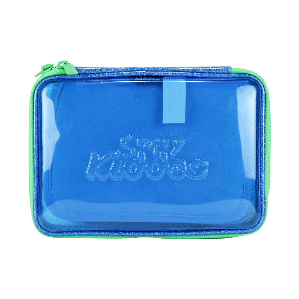 Smily Pvc Pencil Case Blue