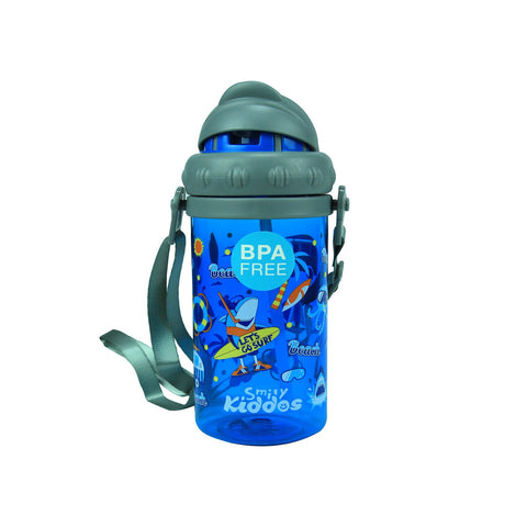 Smily Sipper Water Bottle Blue