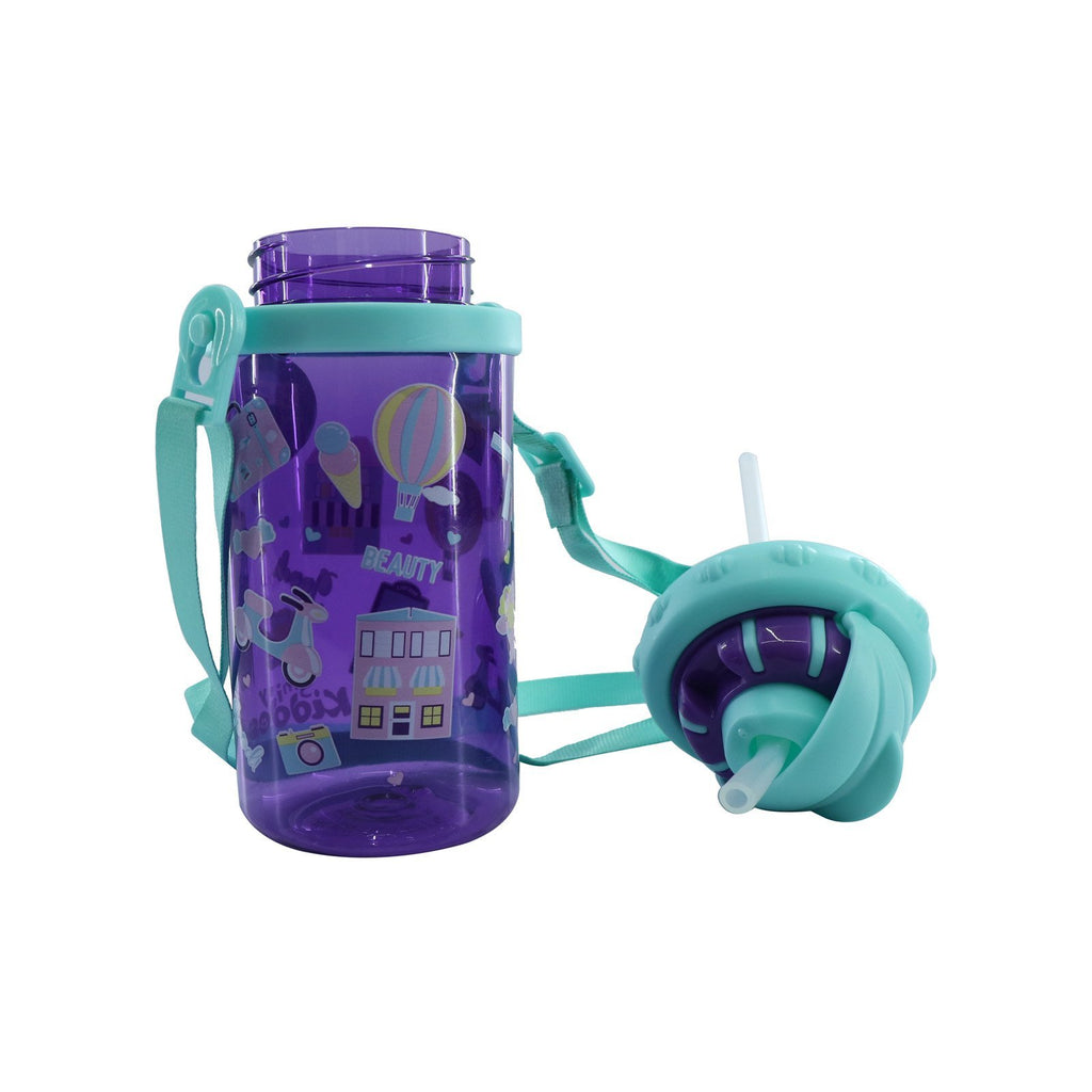 Smily Sipper Water Bottle Purple