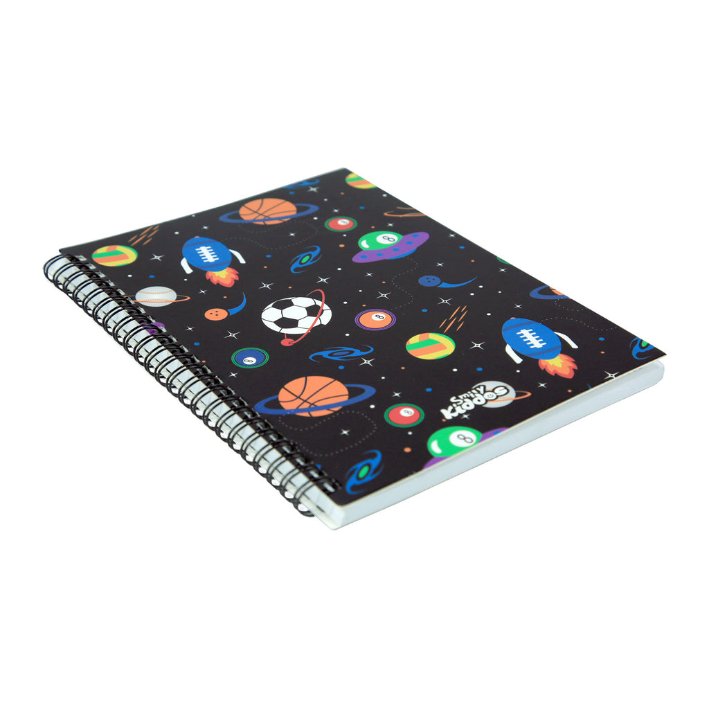 Smily A5 Lined Notebook Black