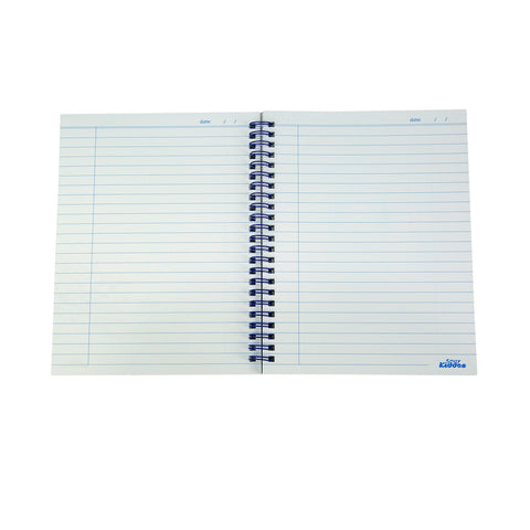 Smily A5 Lined Notebook Blue