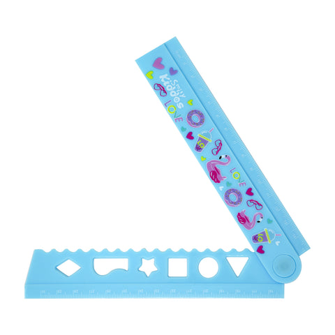 Image of Smily Fold Up Ruler Light Blue