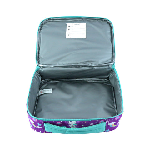 Image of Smily Multi Compartment Lunch Bag Purple