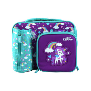 Smily Multi Compartment Lunch Bag Purple