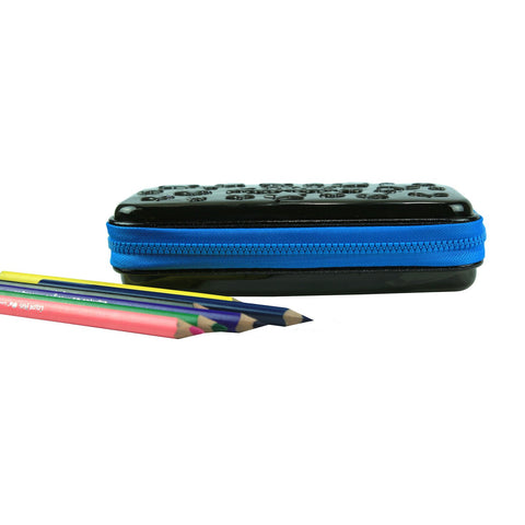 Smily PVC Small Pencil Box Black