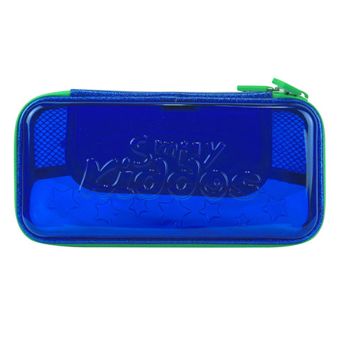 Image of Smily PVC Small Pencil Case Blue