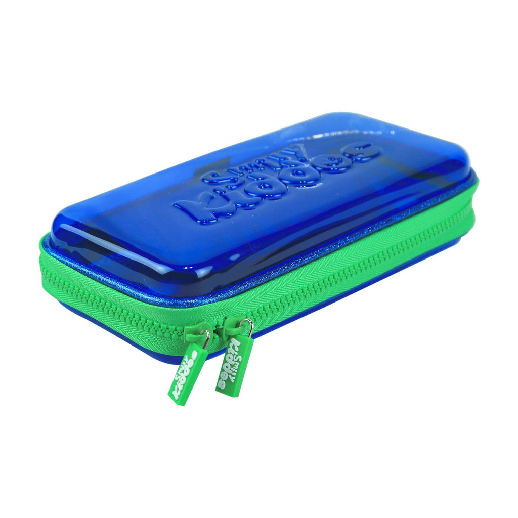 Smily PVC Small Pencil Case Blue