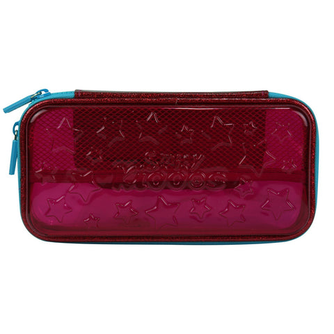 Image of Smily PVC Small Pencil Case Pink