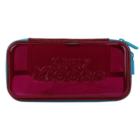 Smily PVC Small Pencil Case Pink