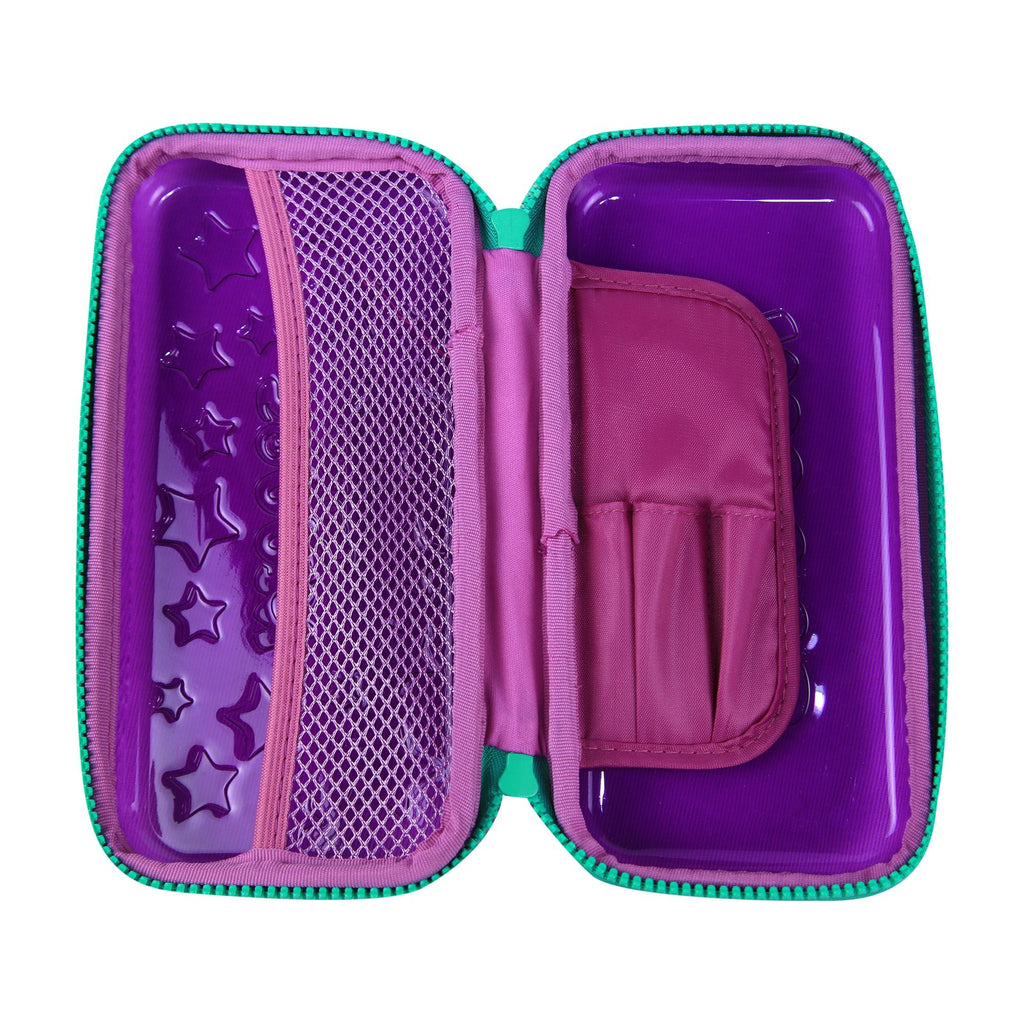 Smily PVC Small Pencil Case Purple